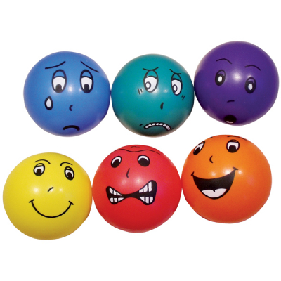 Große Emoji-Bälle (6 Stück)