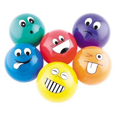 Kleine ballen met gezichtsuitdrukkingen (set van 6)