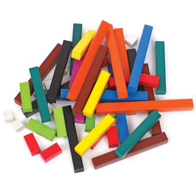 Wooden Cuisenaire® Rods Introductory Set (in a tray)