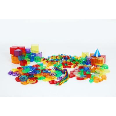 Farbige durchsichtige geometrische Formen und Figuren (Set von 498 St.)
