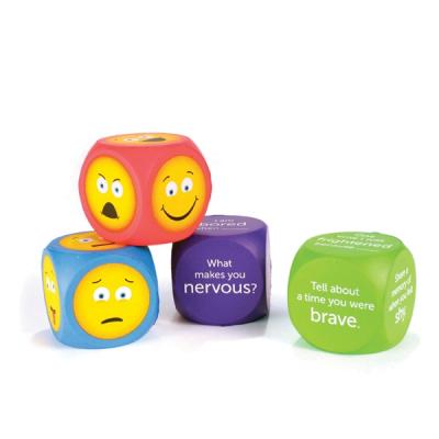 Große weiche Emoji-Würfel (4er Set)
