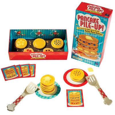 Stapelspiel mit Pfannkuchen