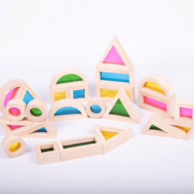 Regenbogen-Block-Set - Pk24