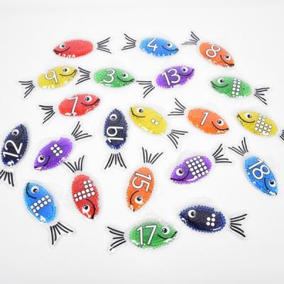Rainbow Gel Number Fish - Set von 21