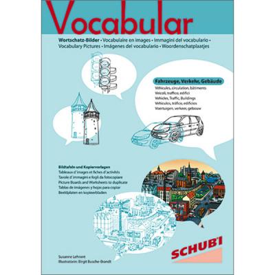 Vocabular - Kopiervorlagen - Fahrzeuge, Verkehr, Gebäude