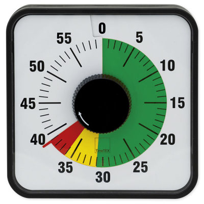 """Zeitdauer-Uhr """"Automatik"""" magnetisch, 19x19 cm, mit Ampelscheibe"""